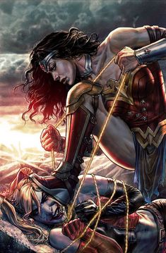 Justice League/Suicide Squad – Forbidden Planet Exclusive Cover by Lee Bermejo - visit to grab an unforgettable cool Super Hero T-Shir - Visit to grab an amazing super hero shirt now on sal Wonder Woman Kunst, Wonder Woman Art, Wonder Women, Wonder Woman Comic, Arte Dc Comics, Dc Comics Superheroes, Comics Girls, Marvel Dc, Marvel Comics