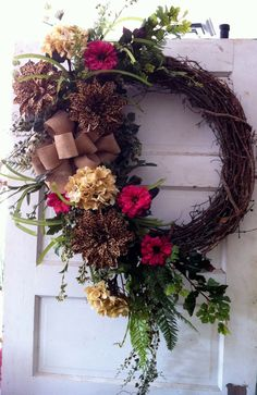 Grapevine wreath by Lisa Davis