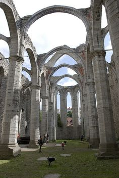 Ruins of St Catherine Cathedral in Visby, Sweden