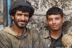 Men in Al-Mahwit, YEMEN