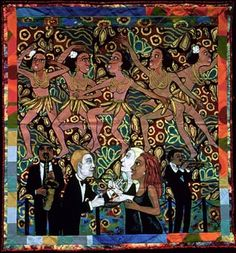 Jo Baker's Bananas by Faith Ringgold She is still one of my favorite artists!