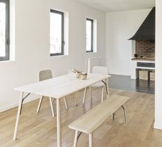Our Kea table and bench in a private house in Basque Country.