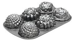NordicWare 56337 Cast-Aluminum Floral Mini-Cake Pan -- Want additional info? Click on the image. (This is an affiliate link) Mini Cake Pans, Mini Cakes, Chicago Metallic, Jell O, Nordic Ware, Novelty Cakes, Stevia, Cake Designs