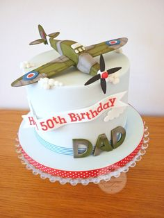 CAKE & DECOR 123 Spitfire birthday cake Dishwasher Belt – Don't Let It Slip You have an older dishwa Airplane Birthday Cakes, 90th Birthday Cakes, 50th Cake, Dinosaur Birthday, Birthday Invitations, Birhday Cake, Planes Cake, Military Cake, Dad Cake