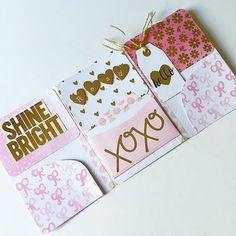Pink and gold! #outgoingmail #snailmail #sendmoremail #showandmail #mailart #prettymail#penpal #penfriend