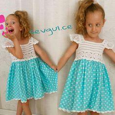 "Vestido de croche para menina [ ""Crochet top of dress"" ] # # #Dresses, # #Bebe, # #Tissue - craftIdea.org Little Girl Dresses, Girls Dresses, Flower Girl Dresses, Lace Flower Girls, Frock Patterns, Vintage Dress Patterns, Crochet Baby Dress Pattern, Crochet Top, Crochet Toddler"