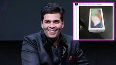 Karan Johar flaunts his new iPhone X as the gadget launches in India today – view pic #FansnStars