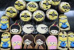 Despicable me cookies / Gru, Margo, Edith y Agnes