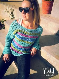 lovely colors! free crochet pattern - very well explained!