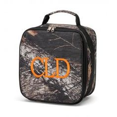 Monogrammed Lunch Box (Color: Woods)