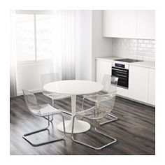 IKEA - DOCKSTA, Table, A round table with soft edges gives a relaxed impression in a room.