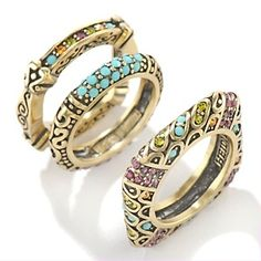 """Heidi Daus """"Wear-Ever You Want"""" Stackable Ring Set"""