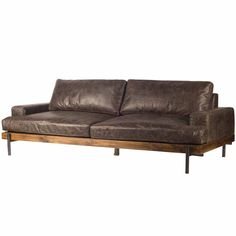 Tips That Help You Get The Best Leather Sofa Deal. Leather sofas and leather couch sets are available in a diversity of colors and styles. A leather couch is the ideal way to improve a space's design and th Rustic Leather Sofa, Rustic Sofa, Modern Leather Sofa, Rustic Bedding, Leather Sectional, Leather Furniture, Sofa Furniture, Cheap Furniture, Rustic Country Furniture
