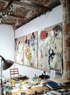 Anna schuleit's studio in dumbo, brooklyn atelier photo, atelier d art, painters studio Painters Studio, Inspiration Artistique, Atelier D Art, Dream Art, Art Studios, Artist At Work, Painting Inspiration, Creative Studio, Art Projects
