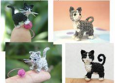 free micro kitty crochet pattern ♡