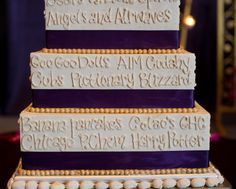 This week's Real Wedding on the Wedding Paper Divas blog features college sweethearts Alpa & Kavit and their stunning Indian wedding celebration. Each tier of their cake was decorated with memorable words – ranging from their favorite restaurant to the place they met, and everything in between.