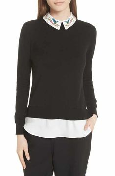 7060e82af873 Ted Baker London Highgrove Layered Look Sweater London Outfit, Ladies Of  London, Layered Look