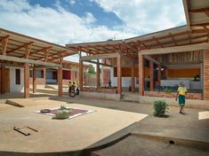Image 17 of 34 from gallery of Econef Children's Center / Asante Architecture&Design + Lönnqvist & Vanamo Architects. Photograph by Robin Hayes Arusha, Vernacular Architecture, School Architecture, Tanzania, Monte Kilimanjaro, Window Blocks, African House, Local Builders, Brick Building