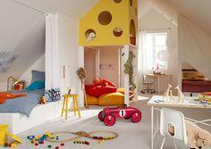 Фотография: Детская в стиле Современный, Интерьер комнат, детская комната для двоих детей, рабочее пространство в детской, рабочий стол в интерьере, идеи для детской комнаты – фото на InMyRoom.ru