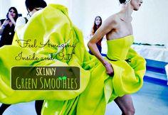 Ultimate Skinny Green Smoothie Recipe. Secret ingredient is CELERY! #greensmoothie #smoothierecipe #smoothies #healthy