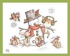 Natale stampa artistica. Yuletide allegria. STAMPA di LoxlyHollow
