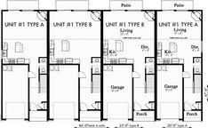 Fourplex Plans 4 Plex Plans Townhouse F 550 Residential Architecture Plan How To Plan Townhouse Designs