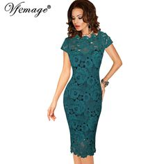 Vfemage Womens Elegant Sexy Crochet Hollow Out Pinup Party Evening Special Occasion Sheath Fitted Vestidos Dress 4272 //Price: $53.36 & FREE Shipping //     #hashtag3