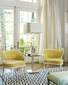 Yellow, sunny seating - Jan Showers