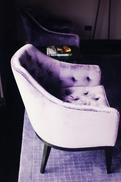 purple chair- exquisite shades of purple