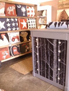 Stricks #Antiques, Furnishings and #Rugs in Building 10 have exceptional hand painted #furniture and unique carpet decor! http://stricksshop.com/