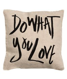 'Do What You Love' linen cushion cover | H&M US