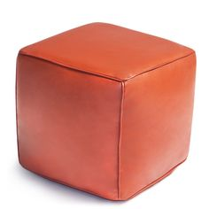 New Furniture - Cube Leather Moroccan Pouf