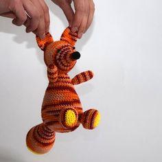 Knuffel vos oranje   Etsy Crochet Animals, Stuffed Animals, Tigger, Sheep, Baby Gifts, Great Gifts, Cute, Handmade, Crocheted Animals