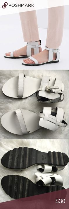 Zara Genuine Leather Sandals Euro 40. Only worn once. Zara Shoes Sandals