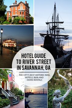 Looking for the best places to stay in Savannah near River Street? Here are the top hotels, historic inns, and home rentals located within walking distance of the river. #exploregeorgia #visitsavannah #savannahga #savannah