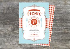 Perfect invites for a picnic!  Company is so easy to work with & great turnaround.