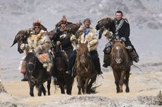 etability:  Nomads hunting with Golden Eagles in Western Mongolia.  aka fucking boss
