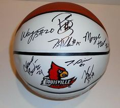 Louisville Cardinals Team Signed Logo Basketball #SportsMemorabilia #LouisvilleCardinals