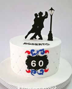 Let's dance tango by Silvia Caballero - love the silhouette of dancers! Dance Birthday Cake, Mary Birthday, 60th Birthday, Tango, Cakes For Men, Cakes And More, Dancer Cake, Dance Silhouette, Dad Cake