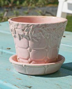 Vintage Ceramic  Pink McCoy Flower Pot by onelovephoto8 on Etsy, $12.00
