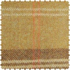 Sanderson Woodford Plaid is the largest design woven on a multi-coloured warp with a different striped pattern in the weft. This style is known as a Madras Check and creates a less formal look than traditional tartans. Shown here in: Olive/Terracotta.