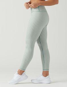 55fab019b4 High Power Legging Print: Eucalyptus Gingham – Glyder Printed Leggings,  Fashion Fabric, Gingham