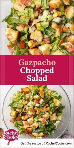 Looking for a quick and easy salad recipe? This gazpacho chopped salad is light, refreshing and so tasty. It has all the really delicious elements of the classic soup but instead of being whirled in the blender, the chopped salad is crisp, cool, and crunchy.Try it soon while fresh homegrown tomatoes are available. Maybe you have tomatoes ripening in your garden. Gazpacho salad is a perfect summer salad.