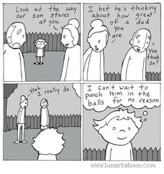 """Comic artist, Christopher Grady, better known as """"Lunarbaboon,"""" makes brilliant comics about his ~dad life~ that will make you feel so many different feelings. 