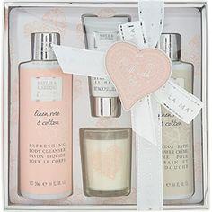 Linen Rose & Cotton Body Wash Set