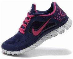 http://www.asneakers4u.com/ Inopk1 Cheap Nike Free Run 3 Women s Running Shoe Night Blue/Pure Platinum Fireberry
