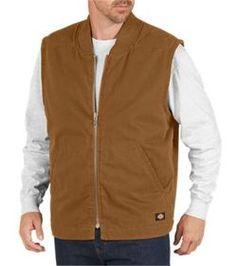 Sanded Duck Insulated Vest by Dickies Dickies Workwear, Blank T Shirts, Dark Beige, Fleece Vest, Quilted Vest, Work Wear, Bomber Jacket, Men Sweater, Unisex