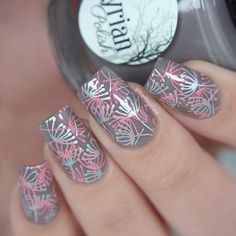 Stamping mani using @bornprettystore BP-L026 stamping plate (go to my blog for…