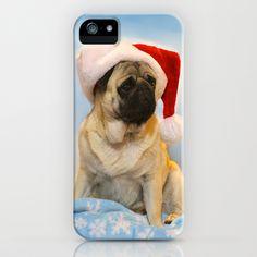 Christmas Pug Phone Case