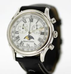 Currently at the #Catawiki auctions: Maurice Lacroix - Gentleme Vintage Stainless Steel & White Gold Plate, Swiss ...